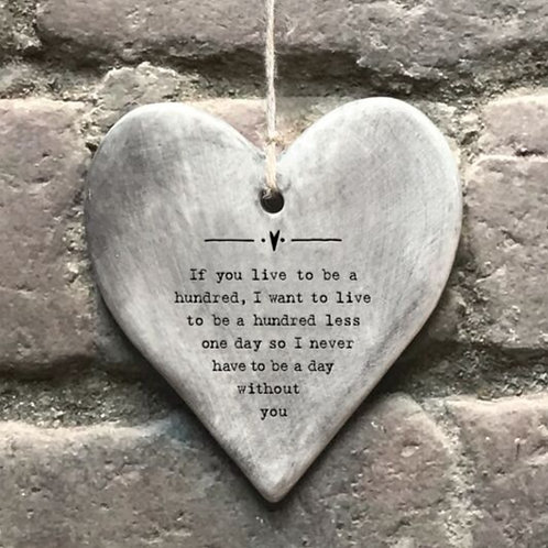 If you live grey hanger heart