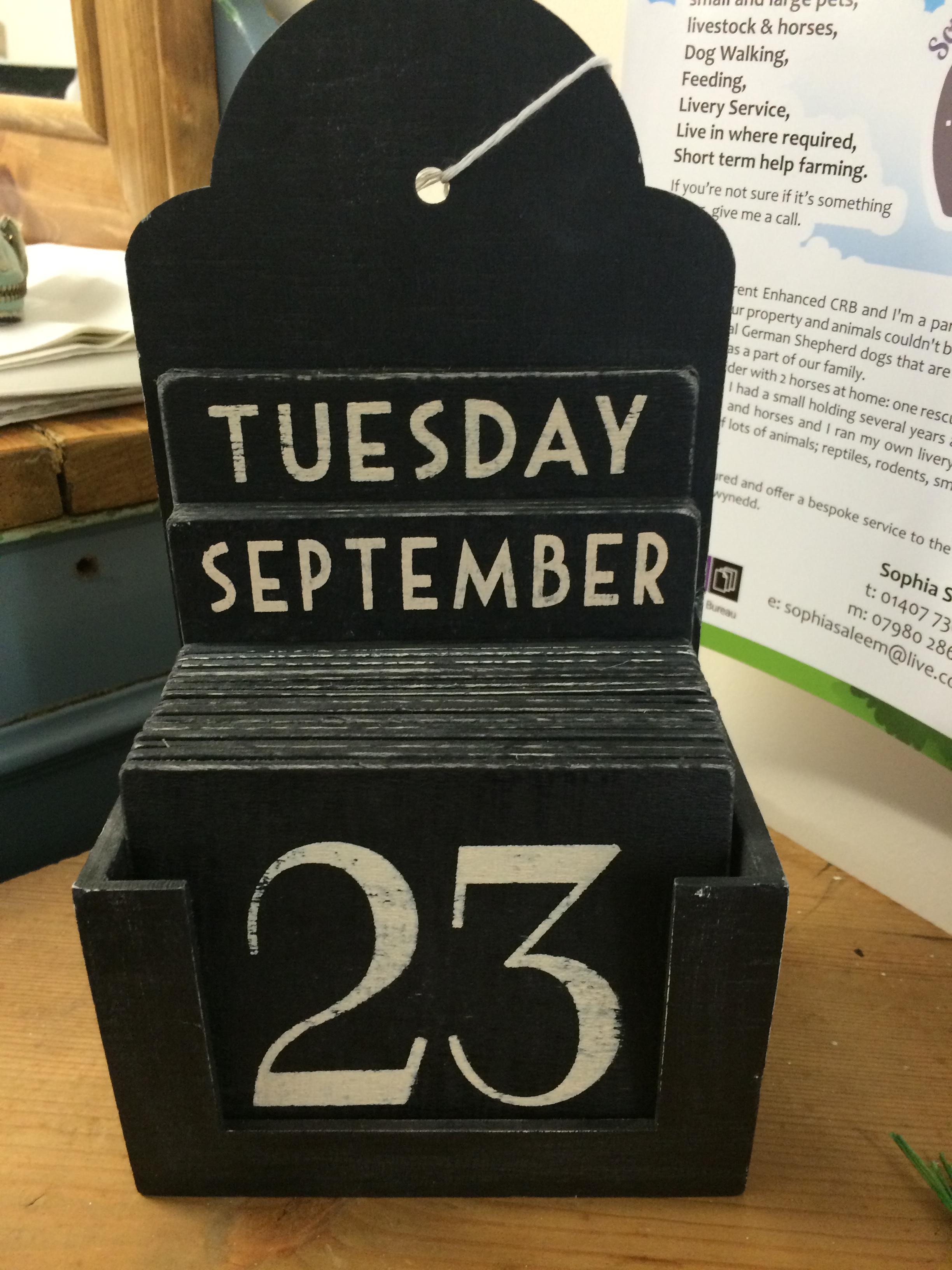 Black Calendar Block