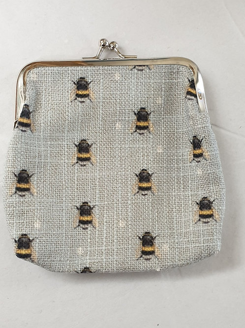 Bees clasp purse