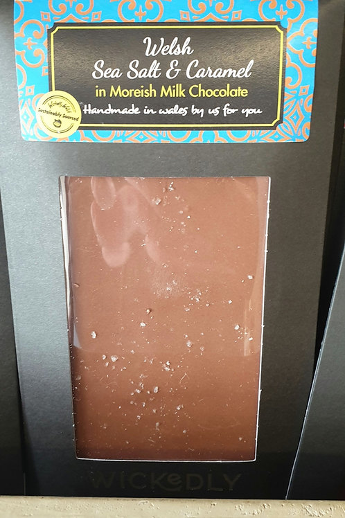 Welsh Seasalt and caramel in milk chocolate