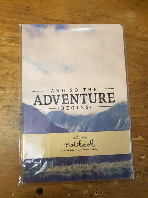 """""""And So The Adventure Begins"""" A5 notebook"""