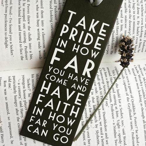 Bookmark - Take Pride