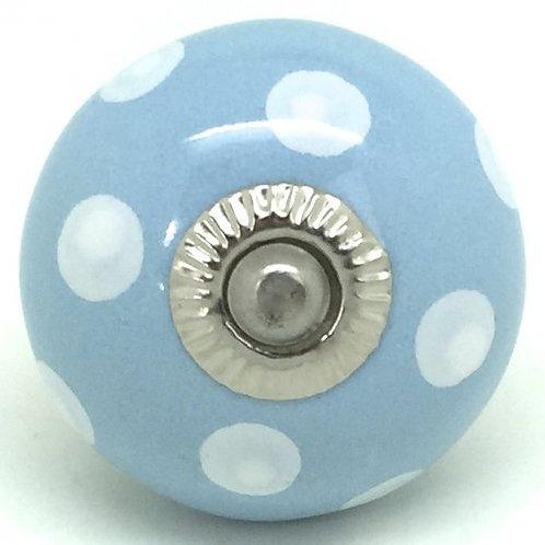 Pastel Blue Polka Dots