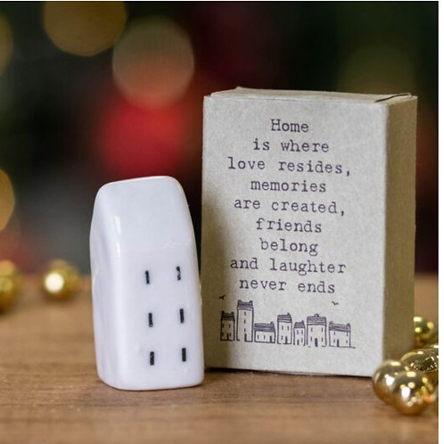 Home is where love resides matchbox house