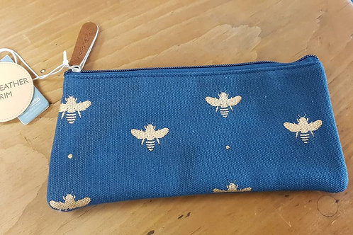 Navy small pouch - Bees