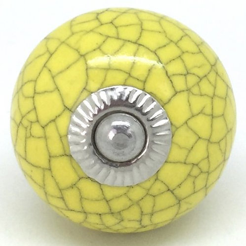 Yellow round crackle