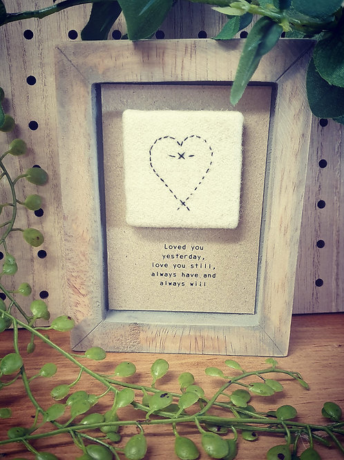 Loved you yesterday - Box Frame