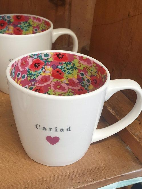 Cariad inside out mug