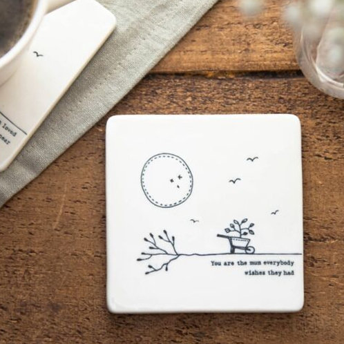 You're the mum square coaster