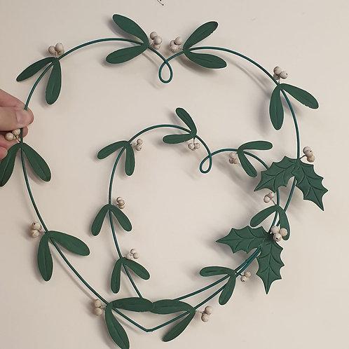 Double Mistletoe heart wreath