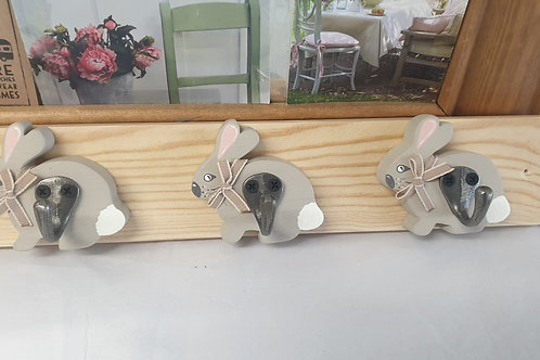 Handmade Rabbit coat hooks