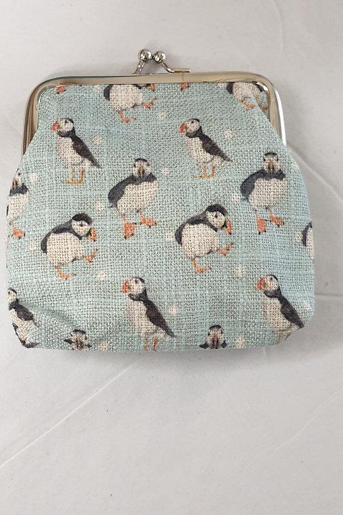 Puffin clasps purse
