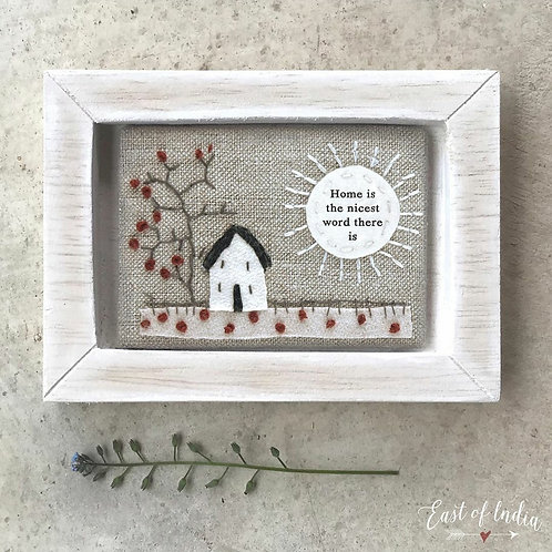 Embroidered frame-home is the nicest word there is