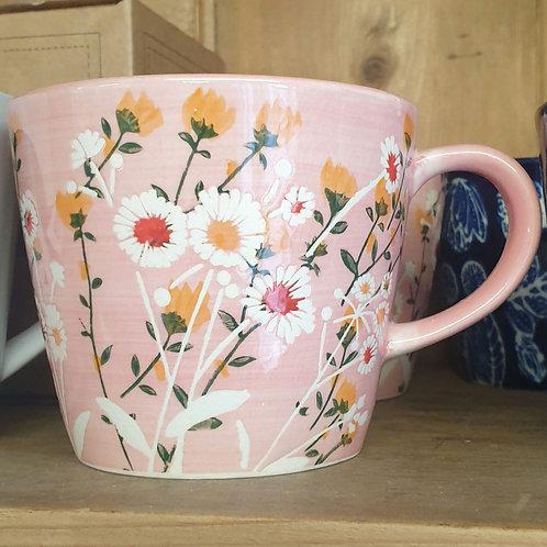 Pink wildflowers small mug