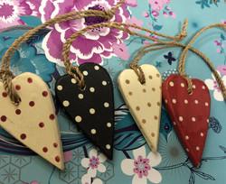 Mini Polka Hearts