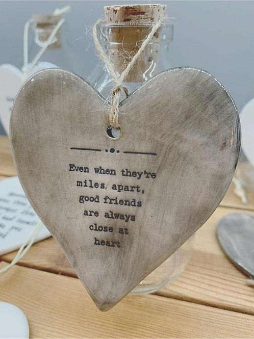 Friends grey hanger heart