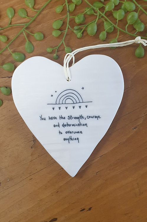Strength & courage -ceramic heart