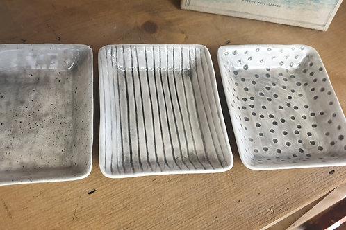 Ceramic soap dishes