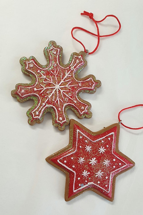 Gingerbread snowflake /star (1)