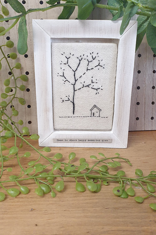 Home is where happy memories grow -box frame