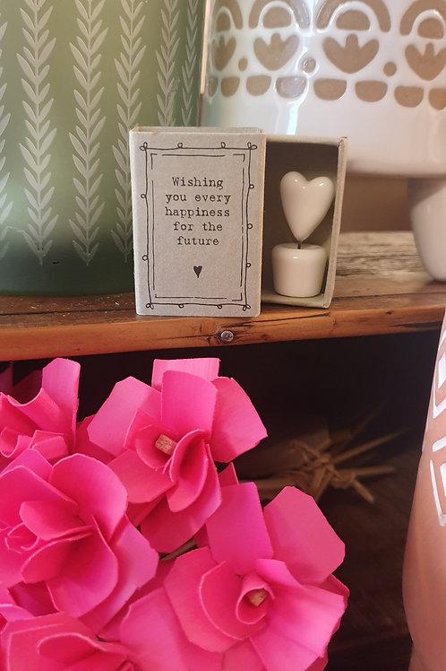 Wishing you happiness -matchbox