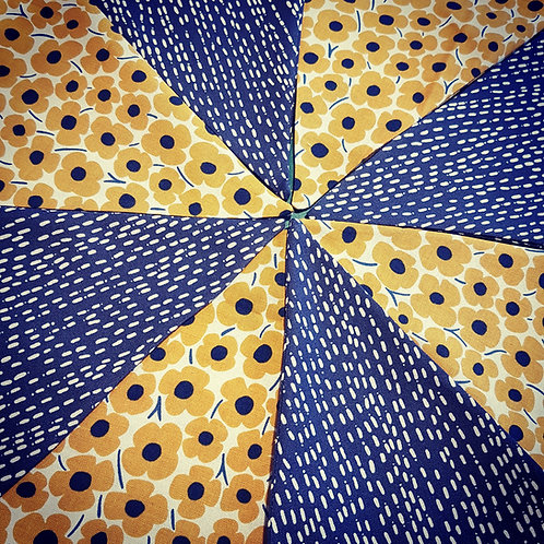 Yellow and Navy bunting