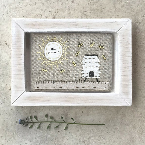 Embroidered Bee frame