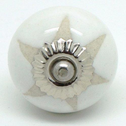 White Stencil Star