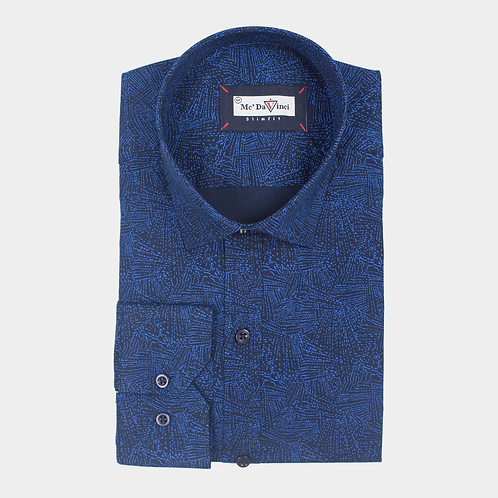 Night Blue Print Shirt