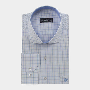 White-Blue Check Shirt