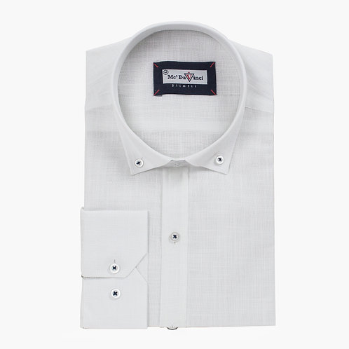 White Cotton-Linen Shirt