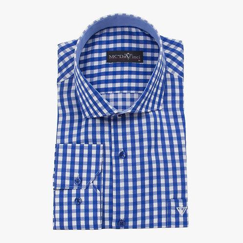Indigo Blue Check Shirt