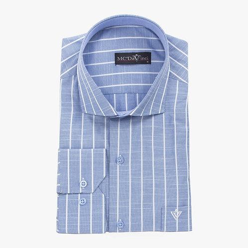 Navy-Blue Stripe Shirt