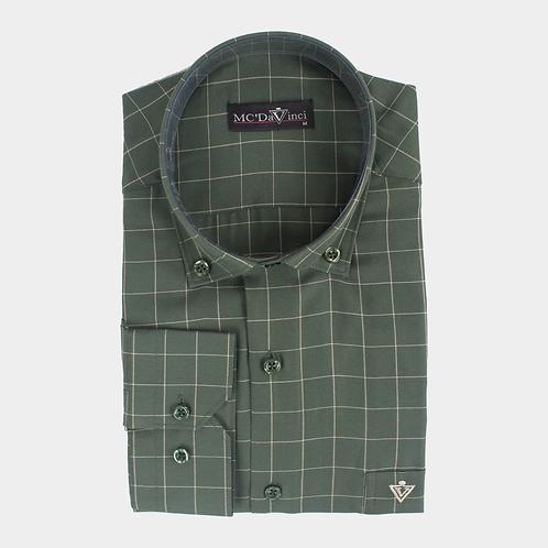 Green Check Pattern Shirt