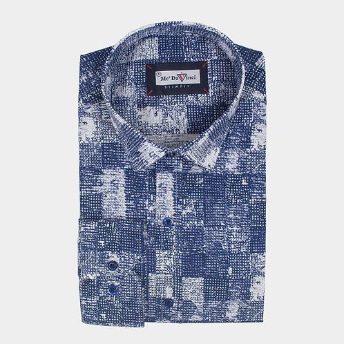Night Blue Print Shirt