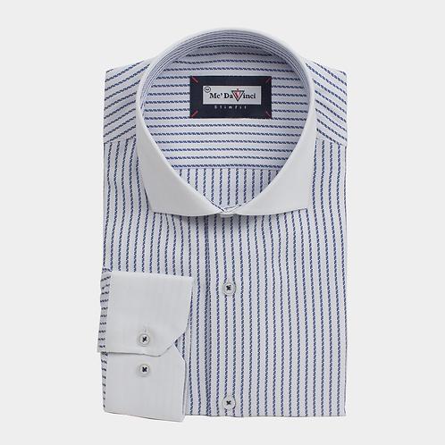 White Collar Stripe Shirt