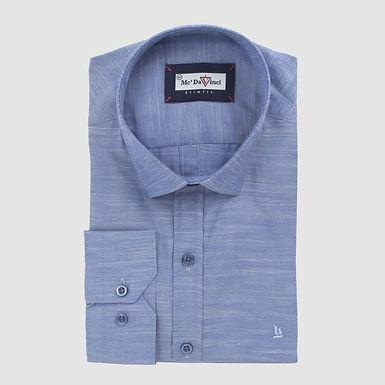 Navy-Blue Dobby Shirt