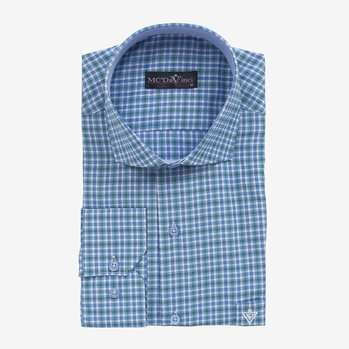 Blue-Green Check Shirt