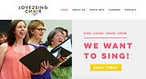 Love2sing Choir, website designed by Blubird Web Design