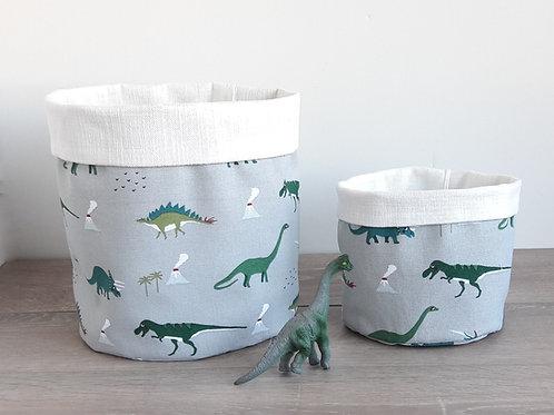 Dinosaur Fabric Storage Baskets