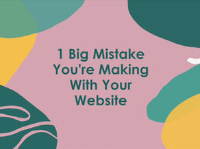 Are You Making This 1 Big Mistake On Your Website?