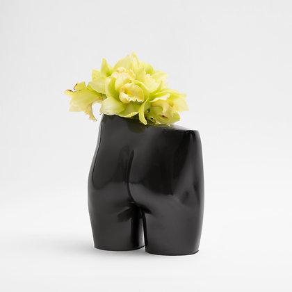 Bloomin' Bum Vase Black Gloss