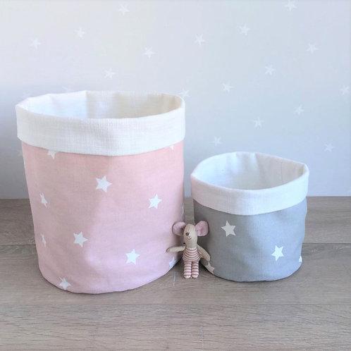 Stars Fabric Storage Basket