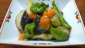 夏野菜の甘酢あん和え
