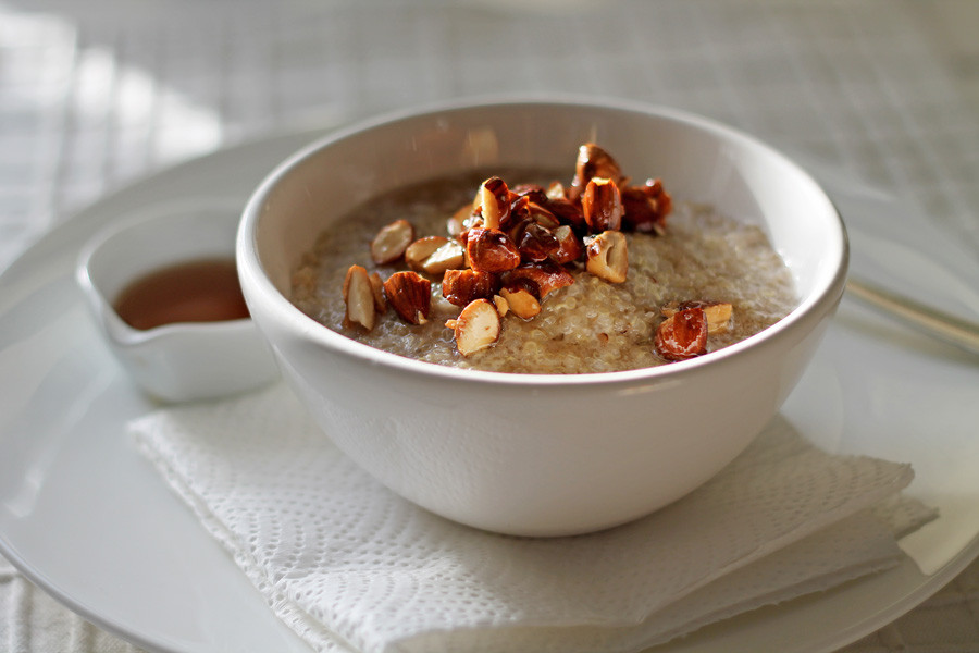 Porridge, Nuts and Maple Syrup