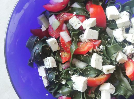 Salade de pâtes à la spiruline