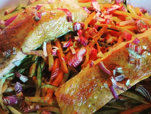 Saumon de l'Atlantique et ses petits légumes émincés
