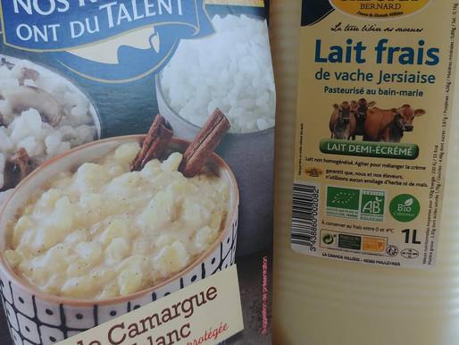 Riz au lait de vache jersiaise