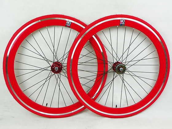 RED Single Speed wheel wheels wheelsets Fixed Fixie 700c flip-flop hub