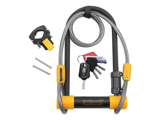 OnGuard Pitbull DT 8012 Bike D Lock with Security Cable - Sold Secure Go